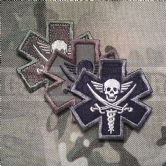Mil-Spec Monkey Velcro Morale Patch Tactical Medic Pirate